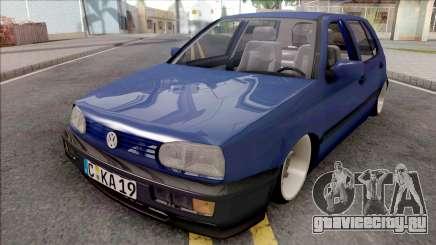Volkswagen Golf 3 Blue для GTA San Andreas