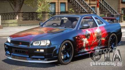 Nissan Skyline R34 V1.1 PJ для GTA 4