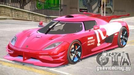 Koenigsegg One PJ3 для GTA 4