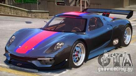 Porsche 918 RSR PJ3 для GTA 4
