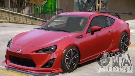 Subaru BRZ V1 для GTA 4
