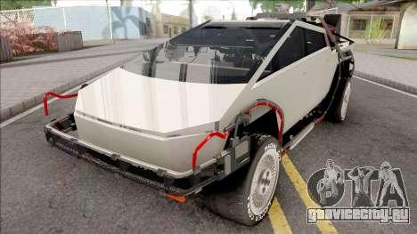 Tesla Cybertruck 2019 BTTF Version для GTA San Andreas