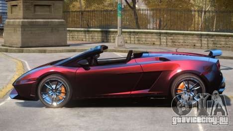 Gallardo Spyder Performante для GTA 4