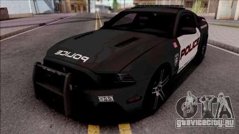 Ford Mustang Boss 302 2013 Police для GTA San Andreas
