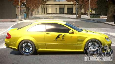 Mercedes CLK63 AMG V1 PJ1 для GTA 4