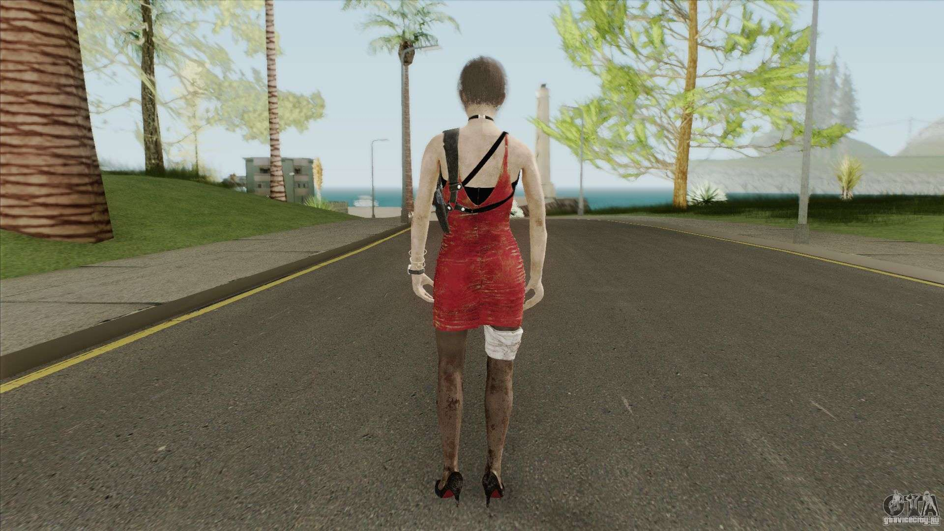 Ada Wong Bandaged (From RE2 Remake) for GTA San Andreas
