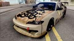 Nissan Silvia S15 Vinland Saga Paintjob для GTA San Andreas