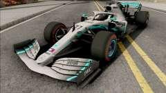 Mercedes-AMG F1 W10 2019 (C4 Tyres Red) для GTA San Andreas