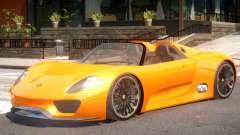 Porsche 918 Roadster для GTA 4
