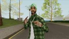 Groves Gangsta Ped (SA Style) для GTA San Andreas