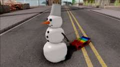 Snowman With Sled