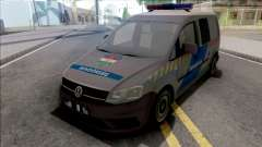 Volkswagen Caddy Magyar Rendorseg v2 для GTA San Andreas