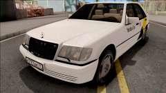 Mercedes-Benz S600L W140 Yandex Taxi White для GTA San Andreas