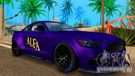 Ford Mustang GT Liberty Walk 2015 Purple для GTA San Andreas