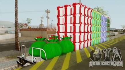 Christmas Railway Wagon для GTA San Andreas