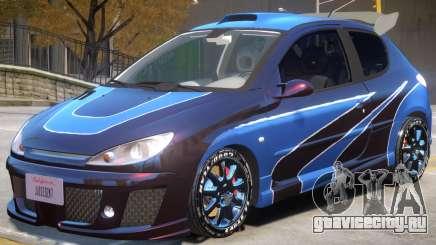 Peugeot 206 Tuning V1 PJ2 для GTA 4