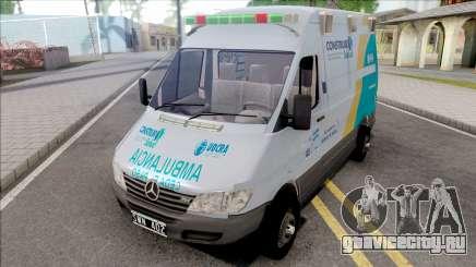 Mercedes-Benz Sprinter Ambulancia Uocra для GTA San Andreas