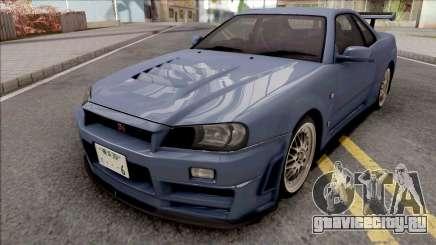 Nissan Skyline GT-R R34 2000 Omori Factory S1 v2 для GTA San Andreas