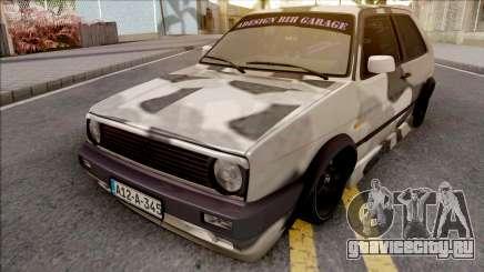 Volkswagen Golf 2 Camo для GTA San Andreas