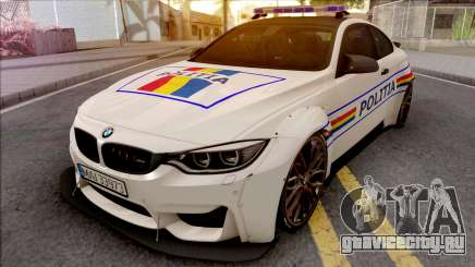 BMW M4 2018 Widebody Politia Romana для GTA San Andreas