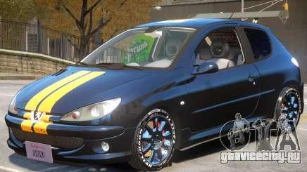 Peugeot 206 Tuning V1 PJ1 для GTA 4