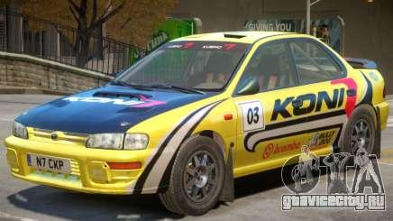 Subaru Impreza Rally Edition V1 PJ1 для GTA 4