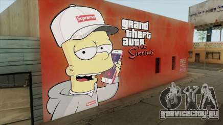 Bart Simpson Mural (GTA The Simpsons) для GTA San Andreas