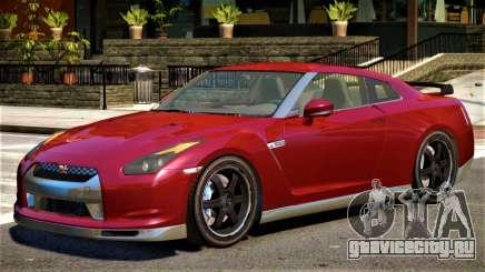 Nissan GTR R35 Upd для GTA 4