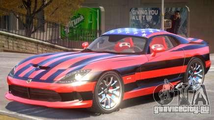 Dodge Viper GTS V1.0 PJ1 для GTA 4