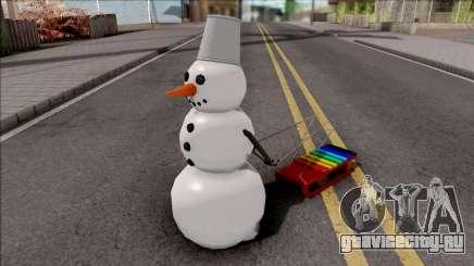 Snowman With Sled для GTA San Andreas