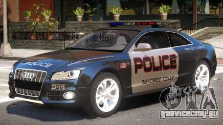 Audi S5 Police V1 для GTA 4
