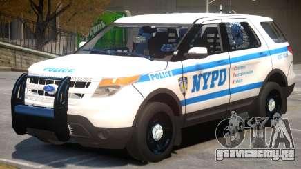 Ford Explorer V1 Police для GTA 4