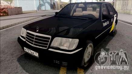 Mercedes-Benz S600L W140 Yandex Taxi Black для GTA San Andreas