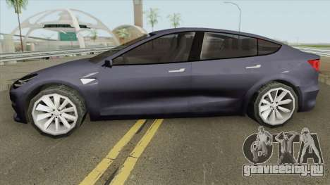 Tesla Model 3 (Low Poly) 2017 для GTA San Andreas