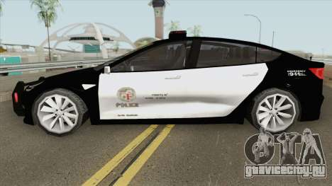 Tesla Model 3 LSPD (Low Poly) 2017 для GTA San Andreas