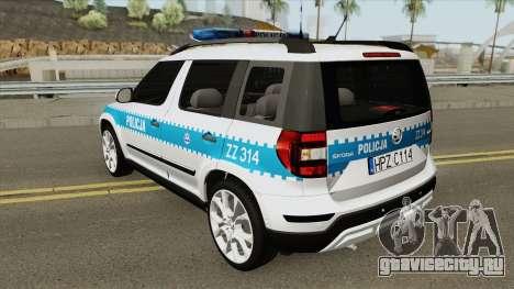 Skoda Yeti (Policja KSP) для GTA San Andreas