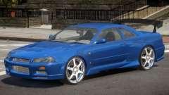 Skyline GT-R34 V1 для GTA 4