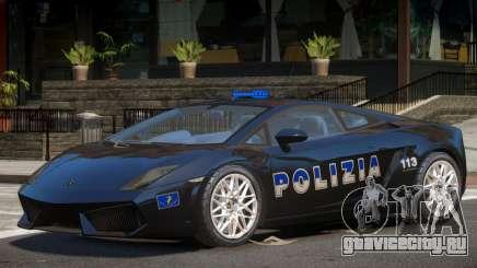 Lambo Gallardo Police для GTA 4