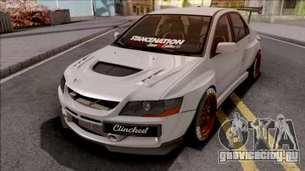 Mitsubishi Lancer Evolution IX Clinched для GTA San Andreas