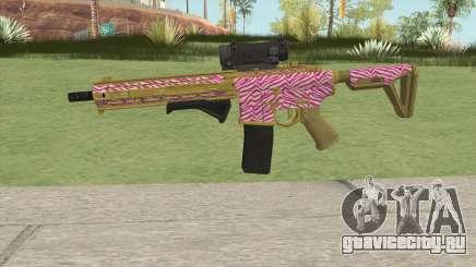 Carbine Rifle GTA V (Zebra Rosa) для GTA San Andreas