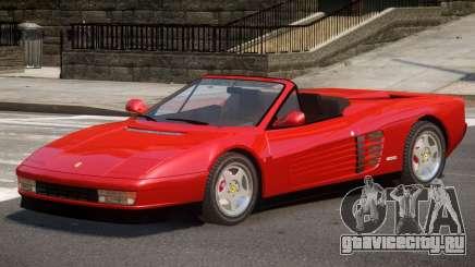 Ferrari Testarossa Roadster для GTA 4