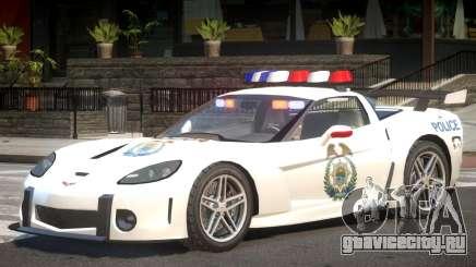Chevrolet Corvette Police V1.1 для GTA 4