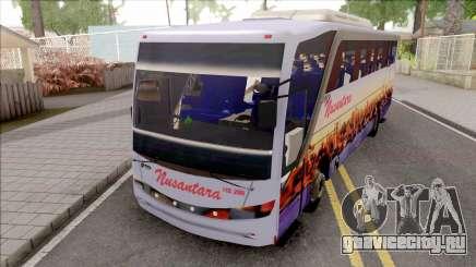 Nusantara Bus Setra Adi Putro Smile Lamp для GTA San Andreas