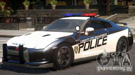 Nissan GTR Police для GTA 4