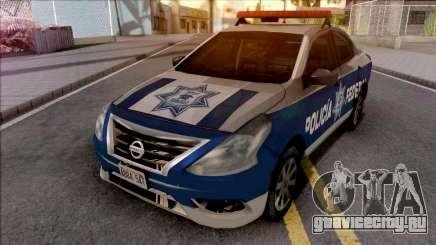 Nissan Versa 2019 Policia Federal Mexicana для GTA San Andreas
