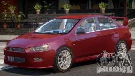 Mitsubishi Lancer X V1.0 для GTA 4