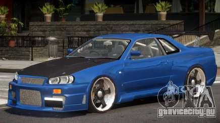 Nissan Skyline R34 Drift для GTA 4