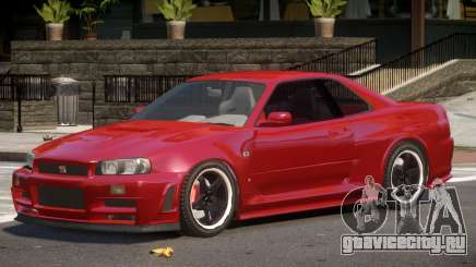 Nissan Skyline GT-R34 ST для GTA 4