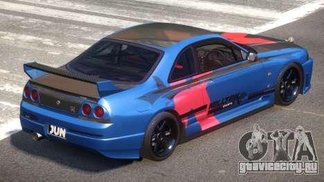 Nissan Skyline R33 Tuning V1.0 PJ4 для GTA 4
