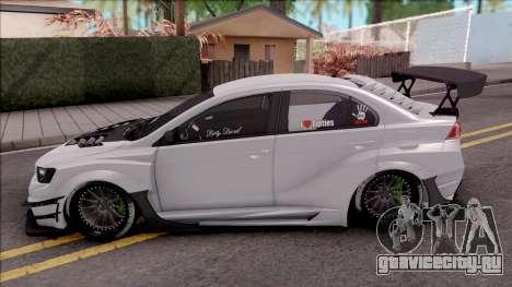 Mitsubishi Lancer Evolution X 2015 Varis Kit для GTA San Andreas